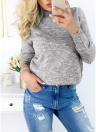 Choker Wrap Knit Long Sleeve Sweater