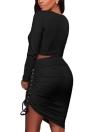 Сексуальная двухкомпонентная комплектация бисером Асимметричная юбка для костюмов Bodycon Party Clubwear