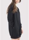 Felpa lunga da donna con maniche lunghe lunghe o con collo ampio