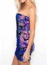 Mulheres Sexy Party Strapless Sleeveless Sequined Bodycon Dress