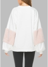 Frauen-lose Pullover-Laterne-lange Hülsen-Pelz ließ Schulter Sweatershirt fallen