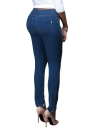 Denim Détruit effiloché trou Zipper poches Pantalon Skinny Crayon Casual
