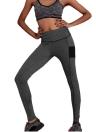 Новые женщины Спорт Йога Леггинсы сращивания растягивание цвета Фитнес-центр Бег повседневные брюки-футляр Брюки серые