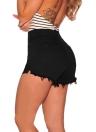Nouveau Femmes Sexy Denim Shorts effiloché Ripped Arêtes Bouton taille haute Slim Jeans court Blanc / Noir / Rouge