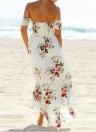Boho Off Shoulder  Women's Maxi Dress