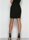 Sexy  Lace-Up Hollow Out Bandage High Waist  Women's Bodycon Skirt