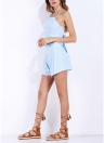 Sexy Spaghetti Strap Backless Bandage  Pleated  Women's Two Piece Set