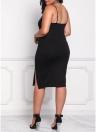Vestito di formato più sexy delle donne di Hem delle fessure di Backless della cinghia di Spaghetti del Bodycon sexy