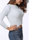 Femmes Chaud Hiver Solide Casual Pull Pull Tricot Pull
