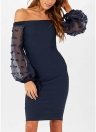 Frauen sexy weg von der Schulter rückenfreies Kleid