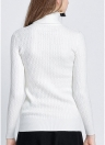 Camisola de malha de moda Twist de moda feminina