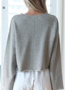 Frauen Solide Oansatz Hoodies Trainingsanzug Sweatshirt
