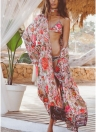 Frauen lange Kimono Beach vertuschen Oberbekleidung