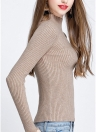 Jersey de punto con cuello alto y manga larga con cuello de tortuga