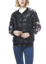Winter Women Floral Print Quilted Long Sleeve Cotton Padded  Jacket Coat