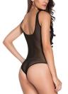 Hot Sexy Женщины Цветочные вышитые Sheer сетки Bodysuit Комбинезоны Экзотические Тедди Белье Ночное белье