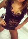 Mujeres atractivas lencería mono pura encaje sujetador tangas ropa interior erótica mamelucos ropa interior