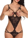 Sexy Women Sheer Lace Bandage Hollow Out Heart Lingerie Эротическая пижама
