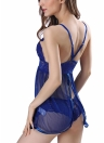 Sexy Women Lingerie Babydoll Lace Dress Set Underwear Roupa de dormir transparente