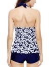 Flower Print Halter Bathing Suit