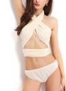 Hot Summer Sexy Halter Criss Cross Bandage Strappy Bikini Set