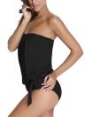 Neue Frauen Tankini Set Bandeau-Bikini-Badeanzug abnehmbaren Trägern Gepolsterte Sommer Schwimmanzug