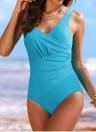 Women's Vintage Plus Size Ruffled Backless Monokini Swimsuit