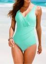 Eine neue Frauen-Badeanzug Plus Size Bademode Retro Vintage Badeanzug Bademode gekräuselten Backless Monokini