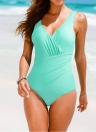 Le nuove donne Costume intero Plus Size Swimwear Retro costume da bagno Beachwear increspato Backless di Monokini