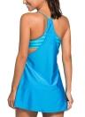 Mulheres One Piece Swimsuit Fluir Swim Vestido em camadas Tankini Top Plus Size Swimwear Bikini maiô