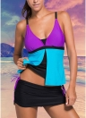 Sexy contrasto delle donne del costume da bagno bikini Swimwear colori della cinghia di spaghetti imbottito due pezzi costume da bagno Beachwear