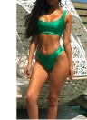 Sexy Solid Color Round Neck Sleeveless Women's Two Piece Swimsuit