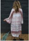 Frauen Chiffon Kimono Cardigan Strand vertuschen