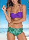 Sexy  Swimwear Mermaid Custom Underwire Push-Up Padded Bikini Set