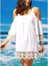 Women Cover-up Cold Shoulder Beachwear