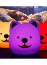 Colorful Silica Gel Bedroom Romantic Atmosphere Lamp Remote Control Desk Light LED Little Dog Sleeping Lights