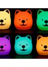 Colorful Silica Gel Bedroom Romantic Atmosphere Lamp Telecomando Desk Light LED Little Dog Sleeping Lights