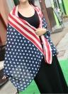 Moda mulheres homens filhos do Chiffon lenço bandeira americana estrelas listras longo xale Wrap Pashmina Unisex