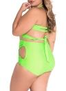 Wrap Underwire High Waist Plus Size Bikini