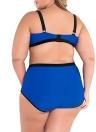 Sexy Underwired Bandeau Longline High Waist Swimwear
