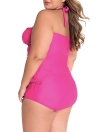 Convertible Tie Ruched Plus Size Swimsuit