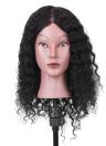 """15 """"100% настоящие волосы манекен головы кудрявый парикмахерская головная боль косметология манекен головной салон манекен голова для стрижки волос практика"""