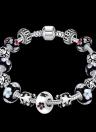 Moda Unico fascino colorato catena perline di cristallo d'argento metallo placcato braccialetto del braccialetto gioielli per le donne del partito del regalo della ragazza