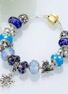 Colorful Crystal Beads Metal Chain Bracelet