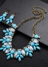 Charm Vintage Flower Pendant Crystal Choker Necklace