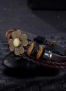 Новые ювелирные изделия способа кожаный Симпатичные Бесконечность браслет Серебряный много Стиль PickD