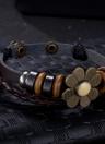 NEUE Schmucksachen Art und Weise lederne nette Infinity-Charme-Armband-Silber viel Stil PickD
