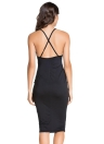 Criss Cross Back Bodycon Club Dress
