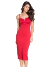 Plunging V Neck Midi Bodycon Dress