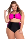 Rosy Bandeau High Taille Bikini Badeanzug